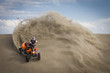 Quad rider in sand dunes roost