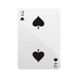 Carte deux piques Card