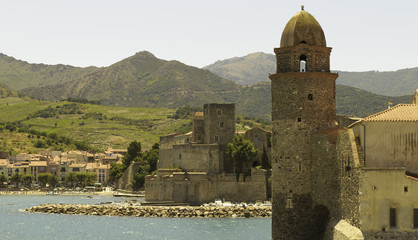 Belfry and villa in Collioure