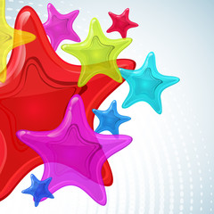 Abstract star vector background.