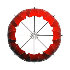 ombrelli rossi cerchio