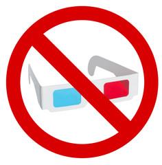 Divieto Occhiali 3D
