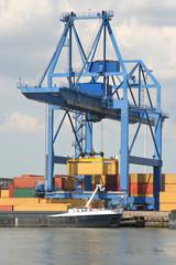 Large Harbor Crane