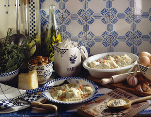 Raviolis with herbs