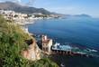 Постер, плакат: Genova Boccadasse la vista verso Portofino