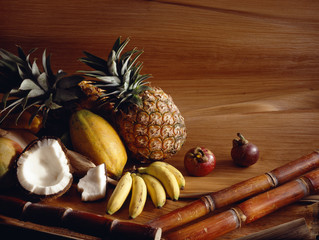 Selection of exotic fruit