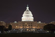 The US Capitol in the night