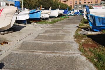 Genova, i gozzi a Punta Vagno