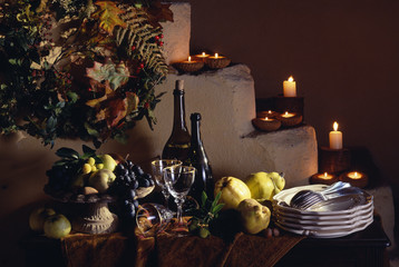 Decorated table in Brittany