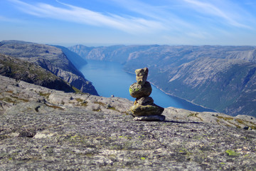 Picturesque Norway mountain landscape. Jotunheimen National Park