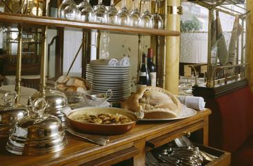 Gratin Dauphinois and chicken in salt crust