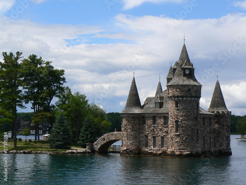 Tuinposter Grote meren Boldt Castle on Ontario lake, Canada