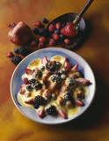 Summer fruit  with a sabayon au gratin