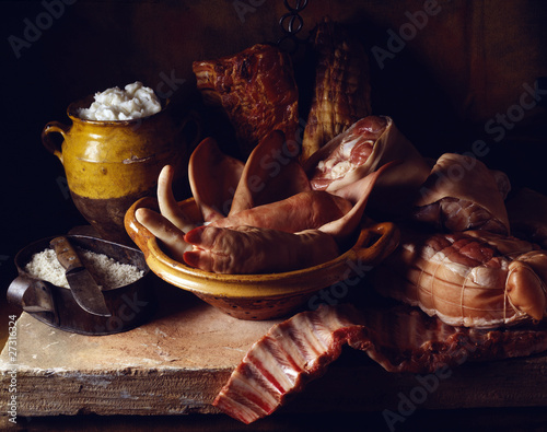 selection of pork products