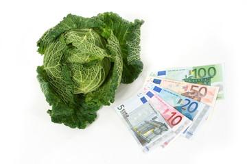 капуста и евро