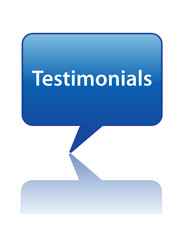 TESTIMONIALS Speech Bubble Icon (customer consumer experience)