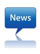 NEWS Speech Bubble Icon (breaking live feed web button internet)