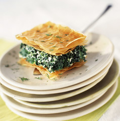 Spanakopita, spinach and feta flaky pastry