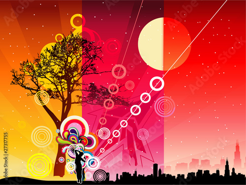 abstract vector color landscape
