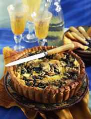 Brousse and chard savoury tart