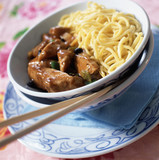 Cantonese chicken and chinese noodles