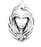 Sketch of tattoo art, monster - 27318956