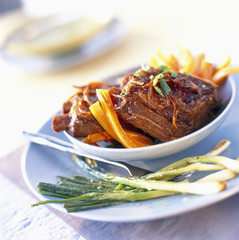 caramel spare ribs with orange