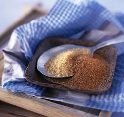 brown and light brown sugar