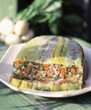 Beef and young vegetable terrine