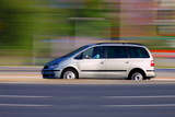 Fototapety Travel by car,  panning and blur