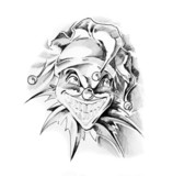 Sketch of tattoo art, clown joker - 27319170