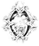 Sketch of tattoo art, mirror - 27319910