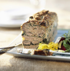 duck terrine with Swiss chard