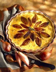 Shallot savoury tart