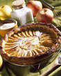 Thin pastry apple tart
