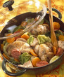 Braised partridge with cabbage