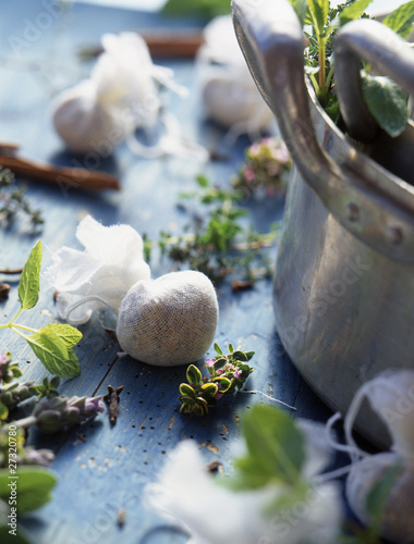 Small bags of fresh herbs against bad smells