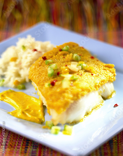 Fish with parmesan crust