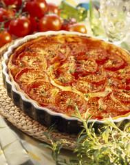 Tomato savoury tart