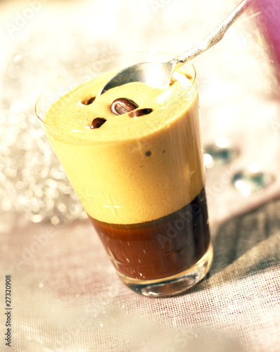 Coffee-chocolate duo mousse