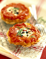 Tomato and goat's cheese tatin tart