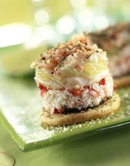Crab and shrimp tartare