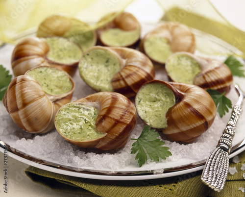 Snails with parsley butter