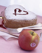 Saint Valentines cake and apple