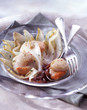 scallops with chicory