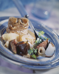 Saddle of rabbit with figs