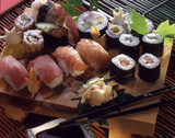 Selection of makis and sushis
