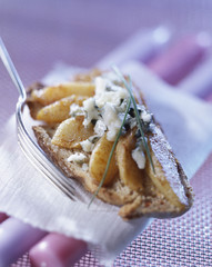 Roquefort and pear open sandwich