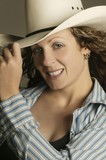 Woman Wearing A Cowboy Hat