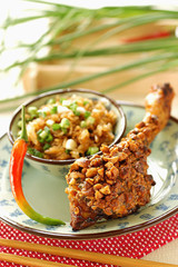 grilled pork with peanuts